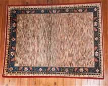Afghan Vegetable Dyed Striped Gabbeh Rug