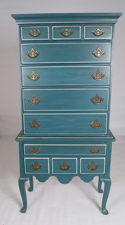 Blue Painted Highboy