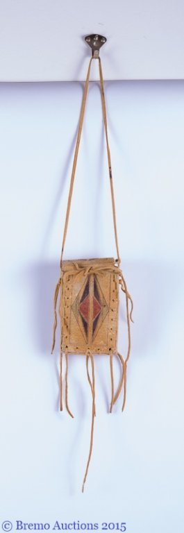 Signed Native American Parfleche Box & Bag - 3
