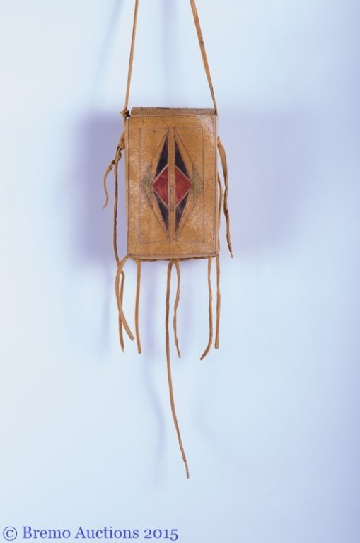 Signed Native American Parfleche Box & Bag - 5