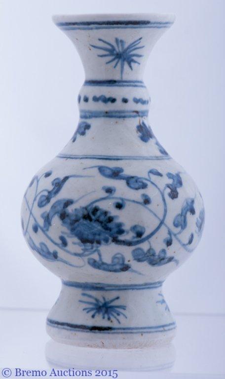 Ming Dynasty Style Blue and White Porcelain Vase - 3