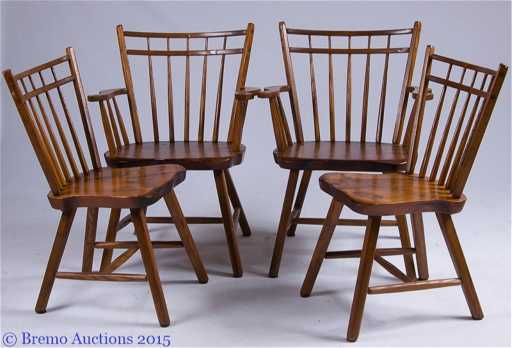 rustic windsor style chairs by pioneer furniture