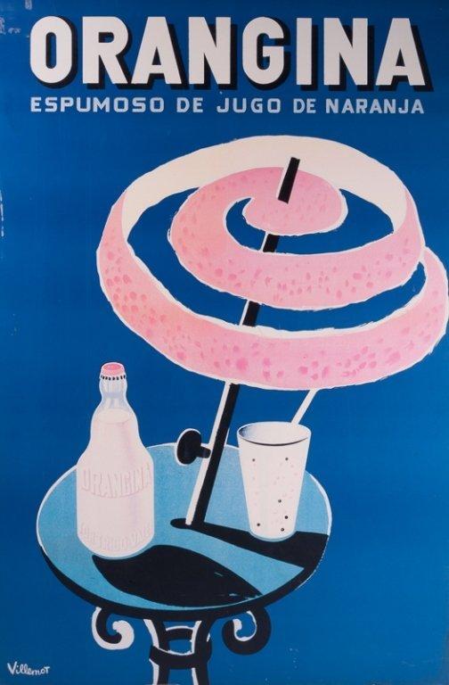 Bernard Villemot Vintage Orangina Ad Poster