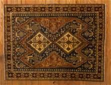 """Antique Washed Iranian Hamadan 5'3"""" x 7' Rug"""