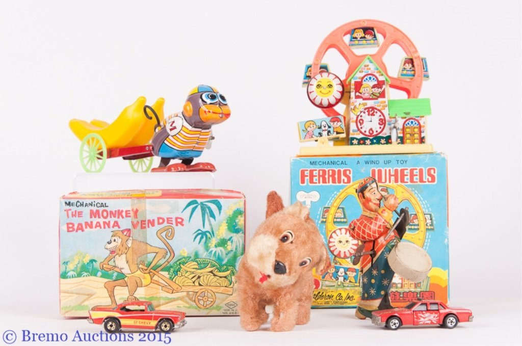 Vintage Wind Up Toys Collection, Six (6)