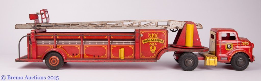Vintage Metal Fire Truck