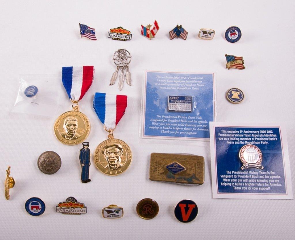 Political and Souvenir Pins Collection