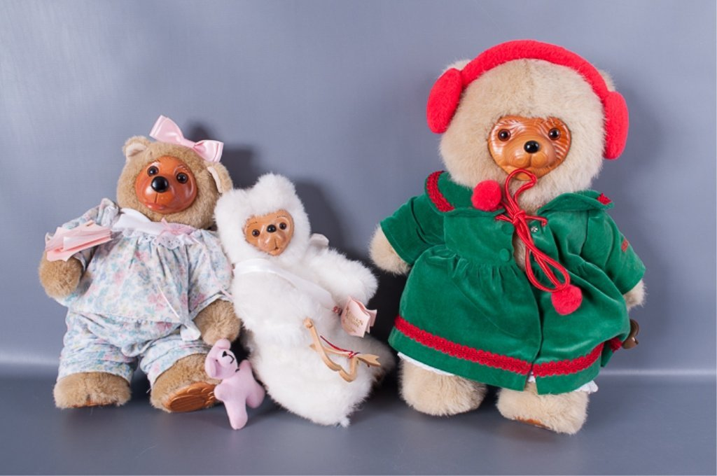 Robert Raikes Bears Collection of Three (3)