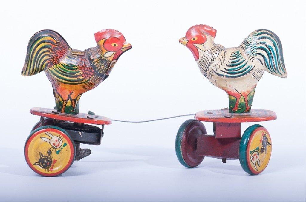 Vintage Windup Fighting Cocks