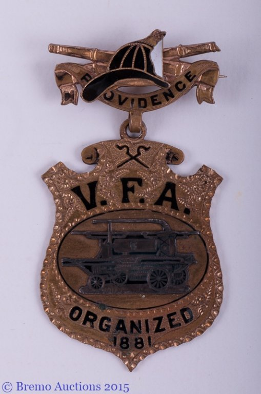 Vintage R.I. Fire Department Suspension Badge