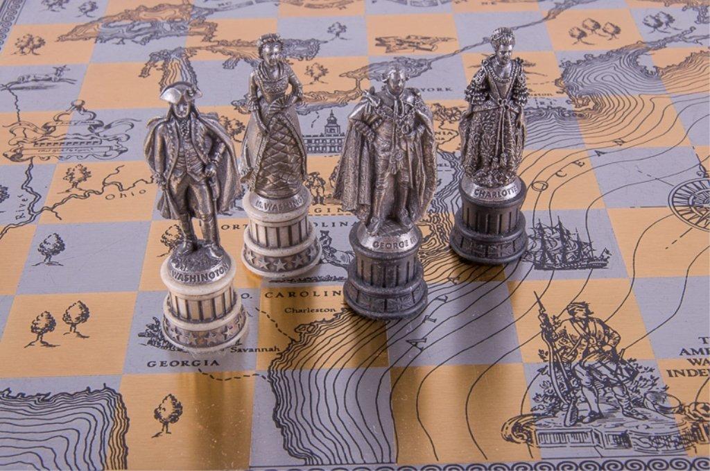 Franklin Mint Revolutionary War Chess Set