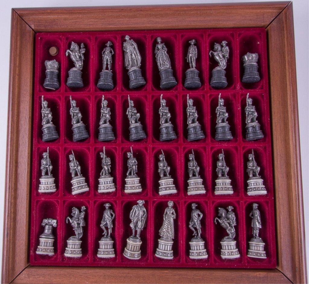 Franklin Mint Revolutionary War Chess Set - 7