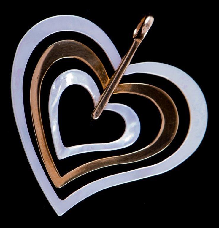 Milor 18K Gold & Mother-of-Pearl Heart Pendant