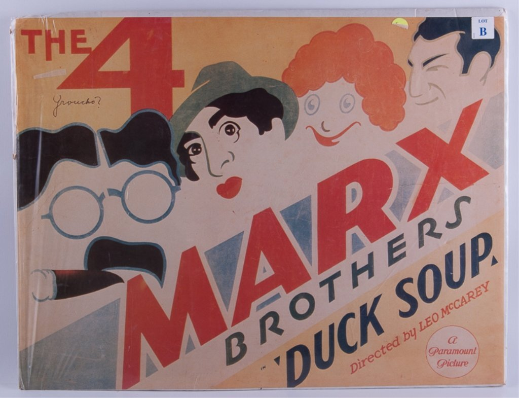 Vintage Marx Brothers Poster & Hair Salon Sign - 4