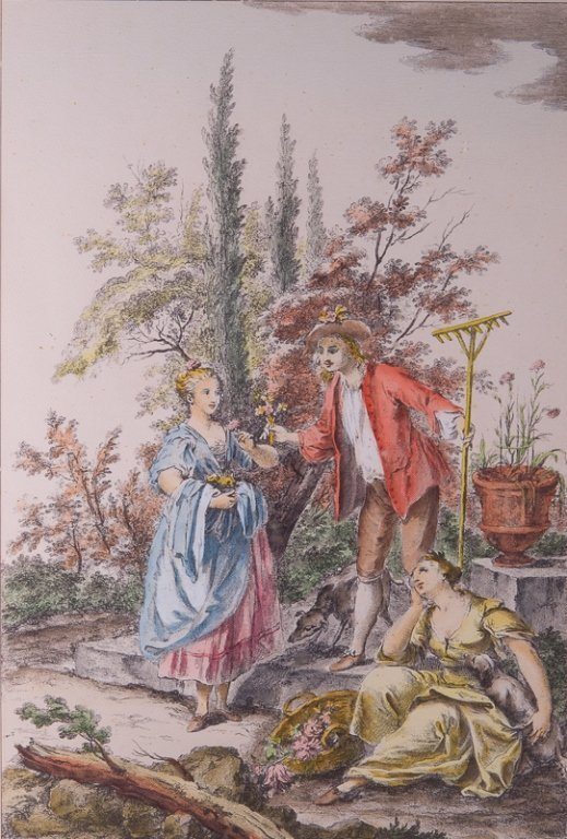 G. Zocchi Hand-Colored Engraving