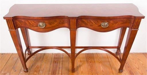 Broyhill Walnut Serpentine Sofa Table