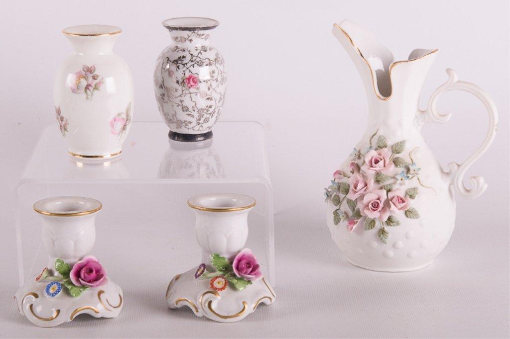 Dresden Porcelain, Lefton China, & Others, Five