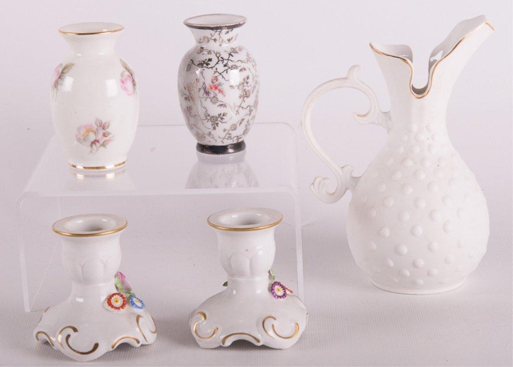 Dresden Porcelain, Lefton China, & Others, Five - 2