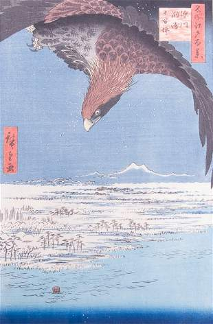 19th C Japanese Woodblock Print in Colors