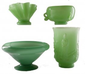 Fenton Jadeite Collection Of Four (4)