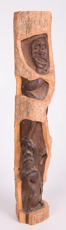 Tribal Carved Wood Figural Sculpture