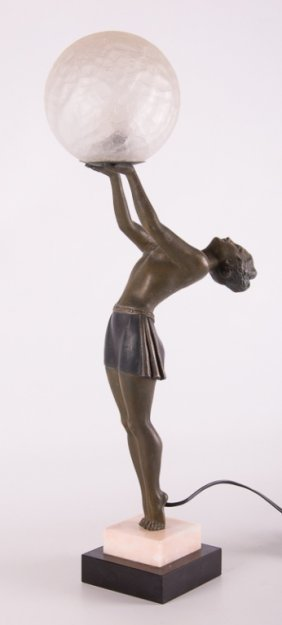 Enrique Molins-balleste Art Deco Figural Lamp