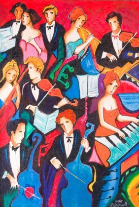 """Philip Maxwell """"orchestra"""" Serigraph"""