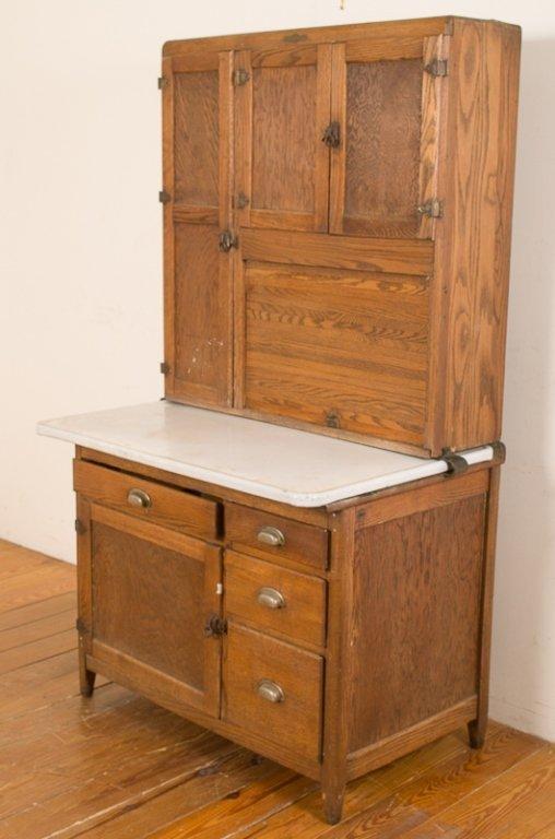 dutch kitchen oak hoosier cabinet