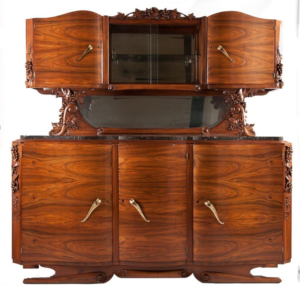 C. Gauthier Art Deco/ Nouveau Marble Top Buffet