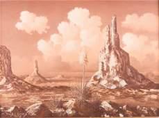 Thomas L Lewis Taos Oil on Canvas