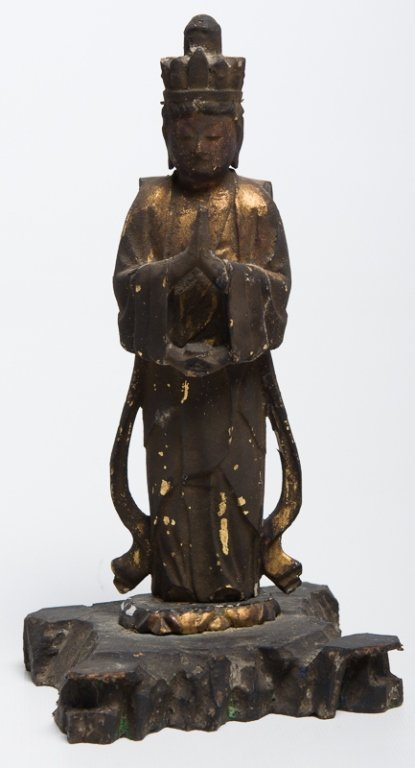 Carved & Gilt Wood Guanyin of the Thousand Arms