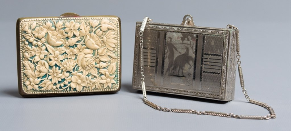 Art Deco Makeup Case & Coin Purse