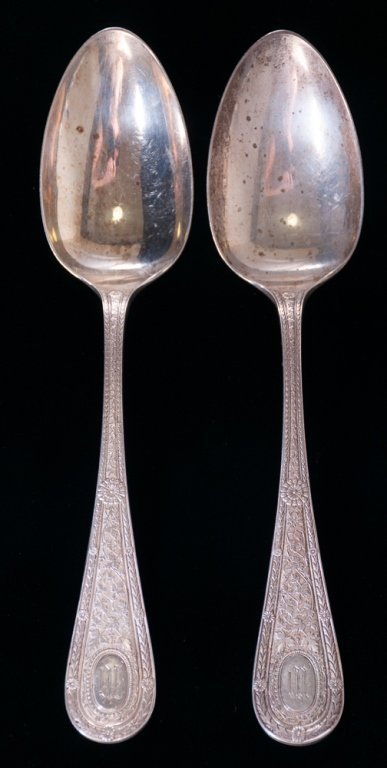 Laureate Whiting Mfg. Co. Sterling Spoons, Two (2)
