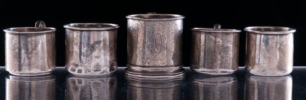 Sterling Silver Cups, Five (5)