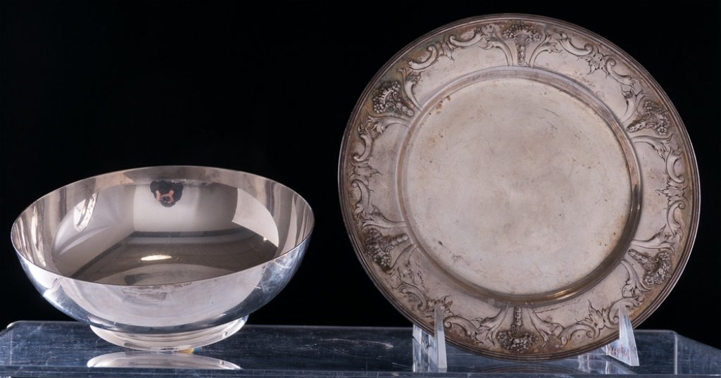 Tiffany Sterling Bowl & Sterling Plate