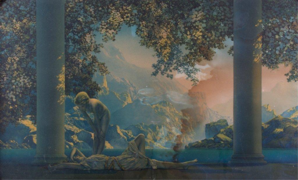 "Maxfield Parrish ""Daybreak"" Print, Framed"