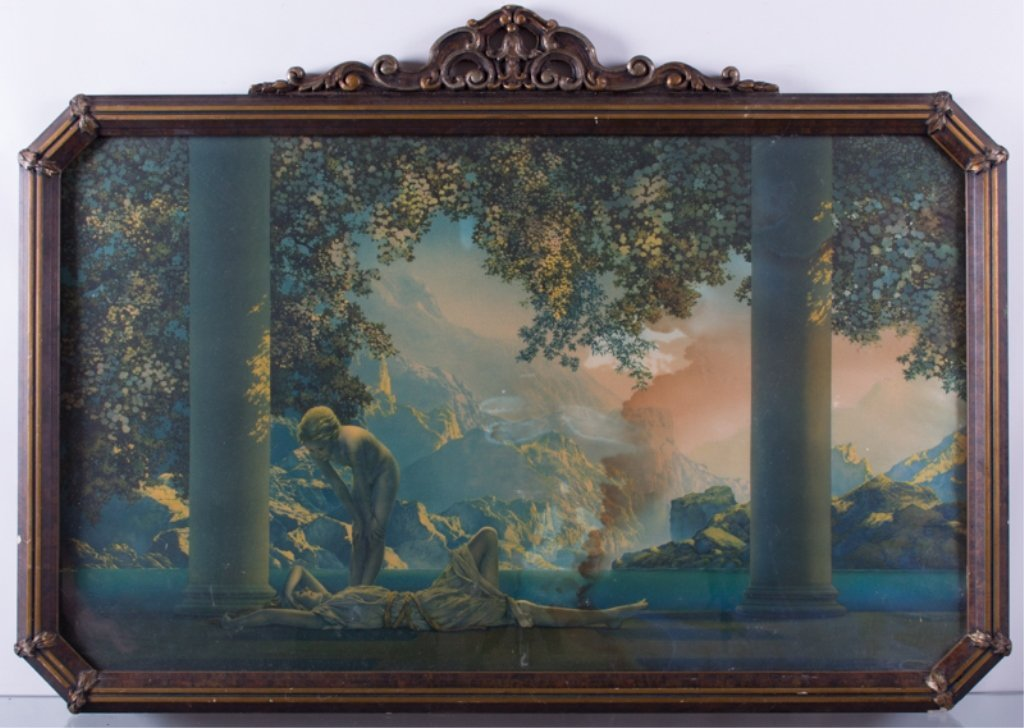 "Maxfield Parrish ""Daybreak"" Print, Framed - 2"