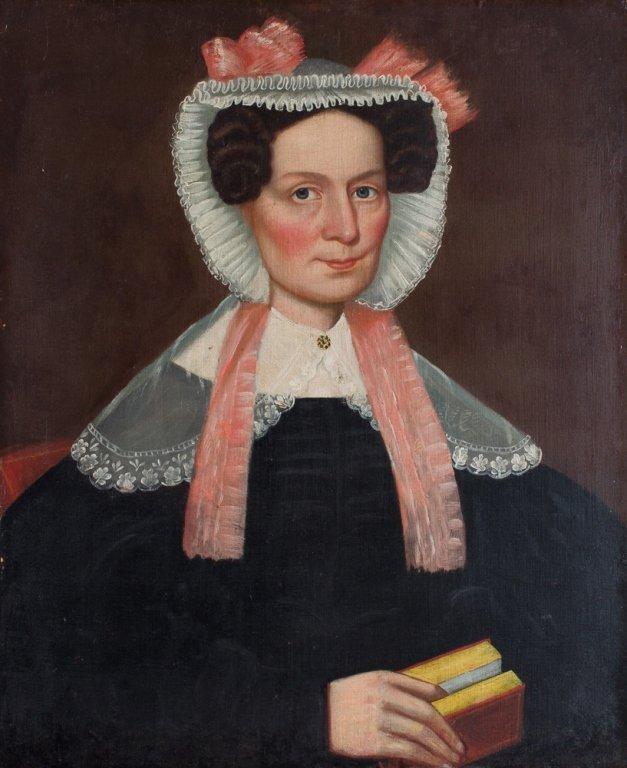 E 19th C New England Oil on Canvas