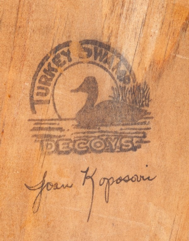 Joan Koposovic Duck Decoy, Signed - 9