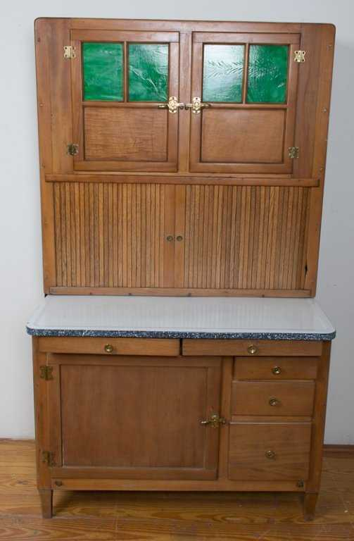 Hoosier Cabinet With Glass Doors | Zef Jam