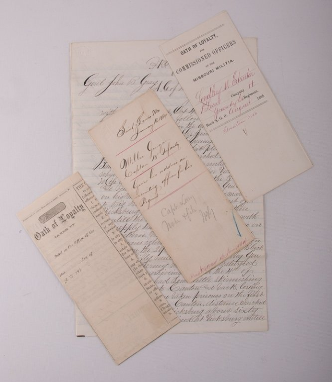Civil War Missouri Volunteers 1864 Documents