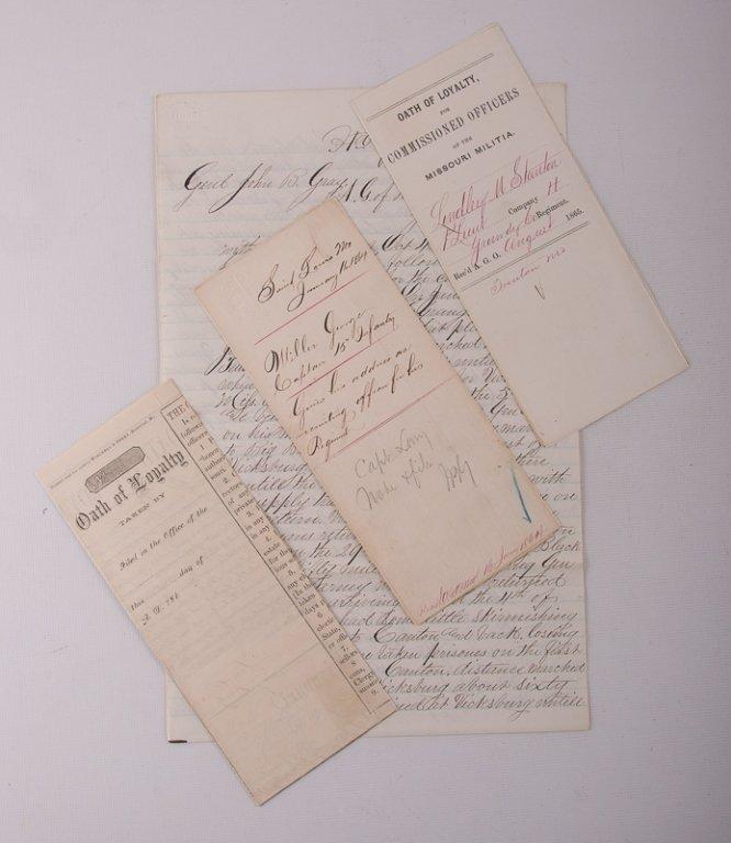 Civil War Missouri Volunteers 1864 Documents