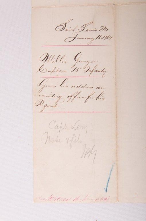 Civil War Missouri Volunteers 1864 Documents - 3