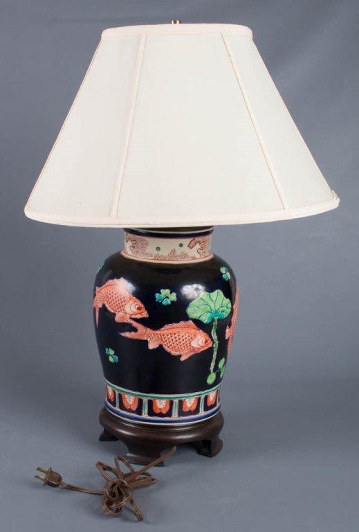 Ceramic Koi Fish Lamp - 3