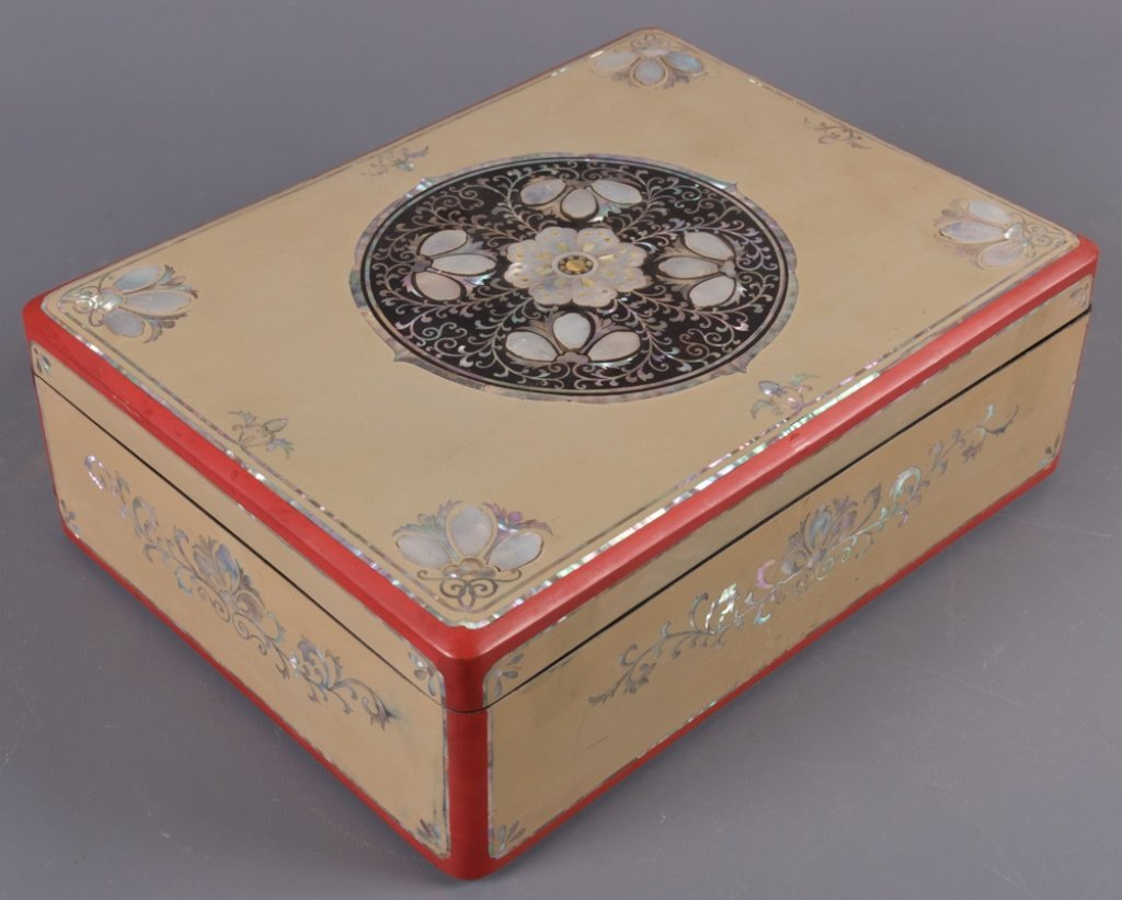 Korean Mother-of-Pearl Inlay Jewelry Box
