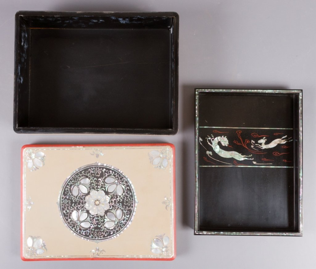 Korean Mother-of-Pearl Inlay Jewelry Box - 2