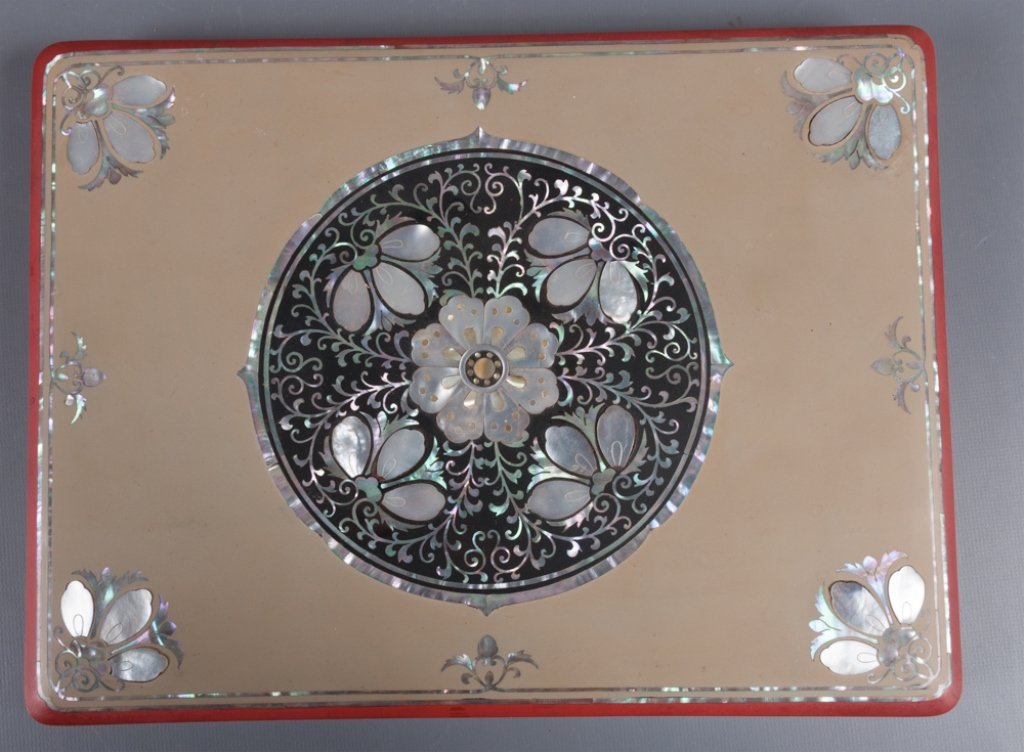 Korean Mother-of-Pearl Inlay Jewelry Box - 4