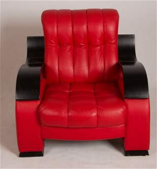 Modern Design Red Leather Armchair
