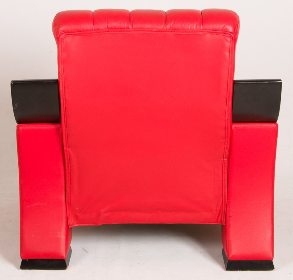 Modern Design Red Leather Armchair - 5