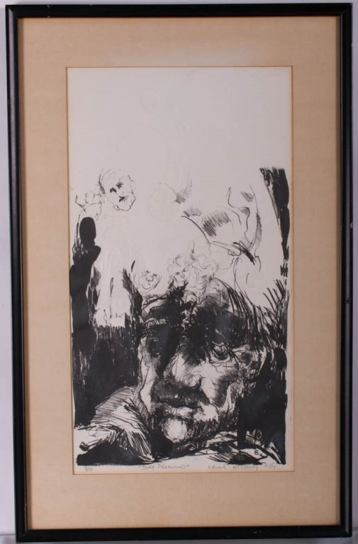 """Edward McCluney Signed Etching """"Day Dreaming"""" - 2"""